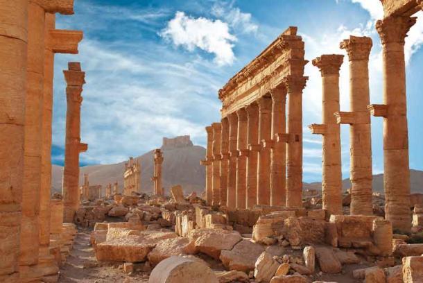The ancient ruins at Palmyra, the city where Haliphat was buried. (waj / Adobe Stock)