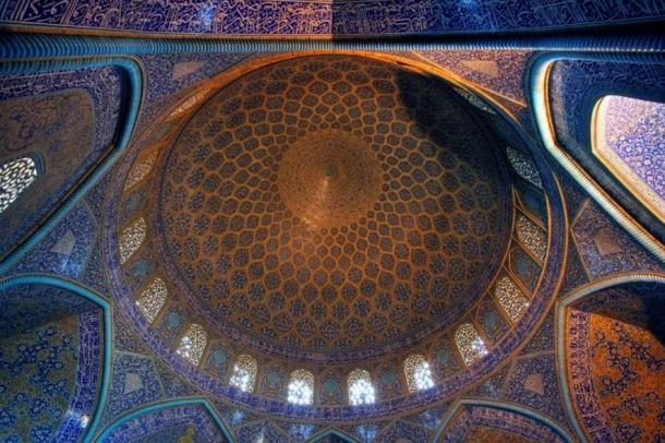 Many historical monuments incorporate sacred geometry, like this mosque in Iran
