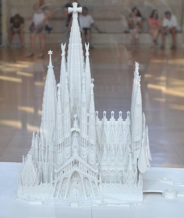 The Sagrada Familia will look like this model (based on sketches and materials left behind by Antoni Gaudi) when it is finally completed around 2026.