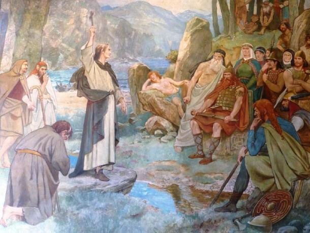 Saint Columba converting King Brude of the Picts to Christianity. (Kim Traynor / CC BY-SA 3.0)