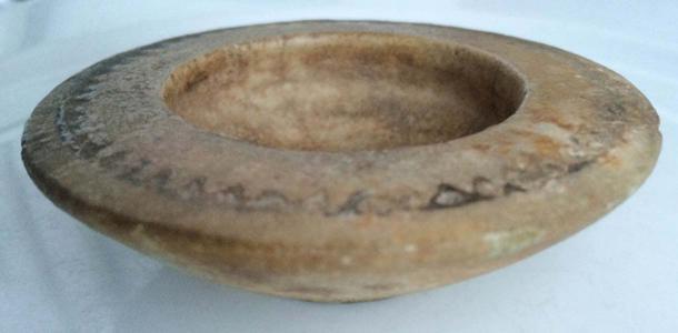 100 AD Roman miniature salt dish.
