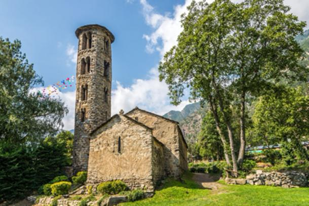 Nearby, Santa Coloma, Andorra's oldest church built in the 8th or 9th century. (milosk50/Adobe Stock)