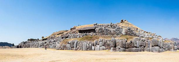 View of Saqsayhuaman , a citadel on the northern outskirts of the city of Cusco.