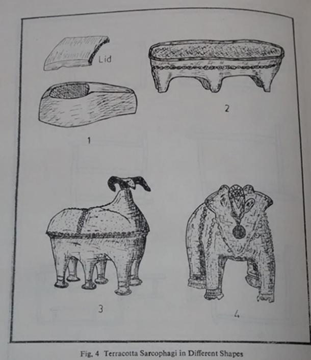 Image of sarcophagi and anthropoid figures