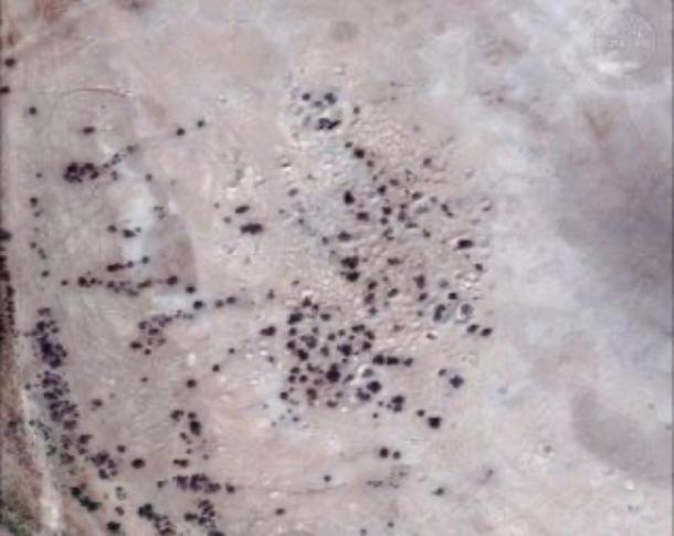 "A satellite image, captured on Sept. 14, 2017, shows ""site 1056,"" which might be the ancient city of Irisagrig. (DigitalGlobe)"