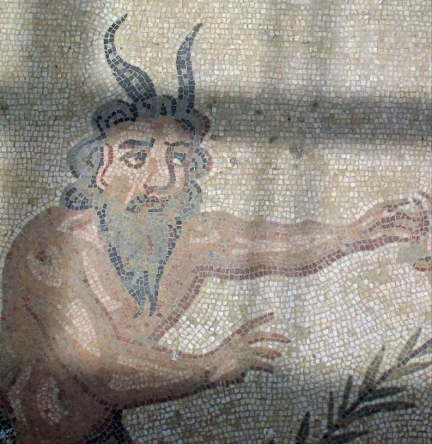 Detail of an Athenian red-figure psykter (cooler) depicting a satyr balancing a kantharos on his penis, painted by Douris, c. 500-490 BC. British Museum.