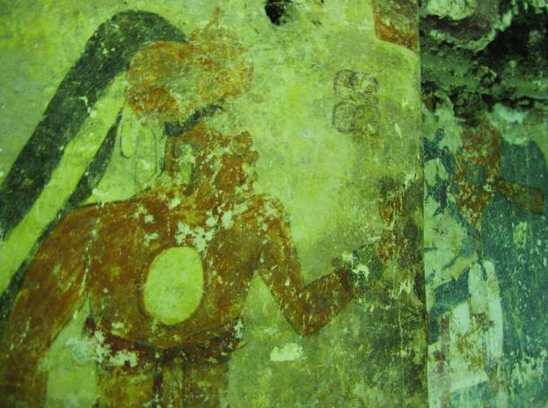 The archaeologists took scans of some of the murals because the walls are so close together they couldn't get proper photographs. The image above is a photograph.