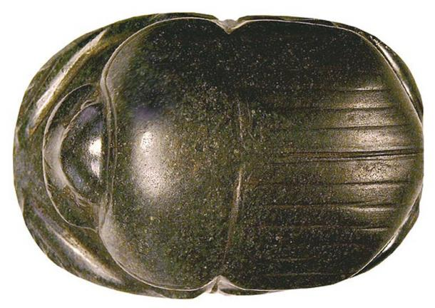 An Egyptian heart scarab, Walters Art Museum