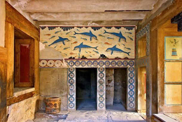 Just one of the fantastic scenes found at the palace of Knossos, Greece, where the Linear A script was once used and lost. (Iraklis Milas / Adobe Stock)