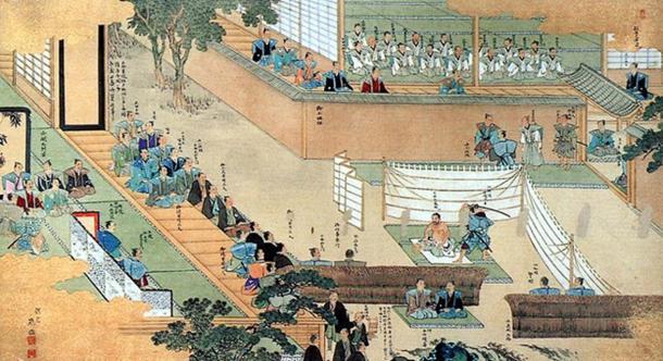 A scene of seppuku.