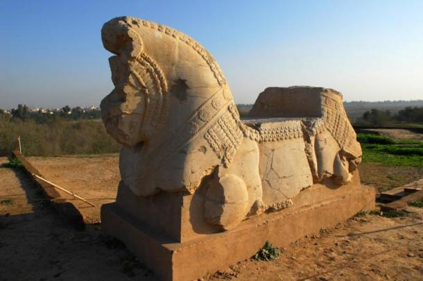 The remains of a spectacular sculpture in Susa, Iran