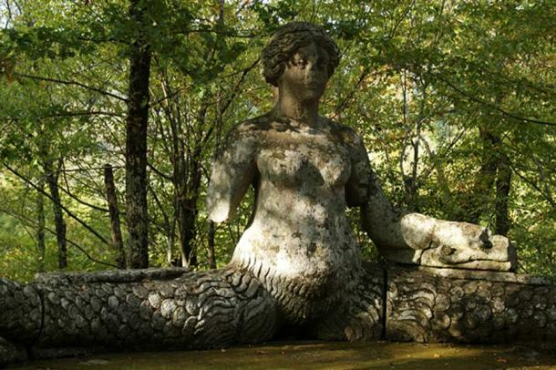 One of the sculptures in the garden of monsters