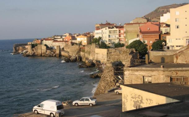 A sea wall in modern Sinop