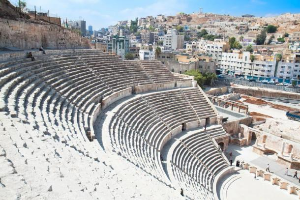 The seating area/ cavea at the Roman Theatre, Amman. (Aleksandar Todorovic /Adobe Stock)