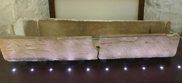 The section to the right of the crack was intact before the incident (Image: Prittlewell Priory Museum)
