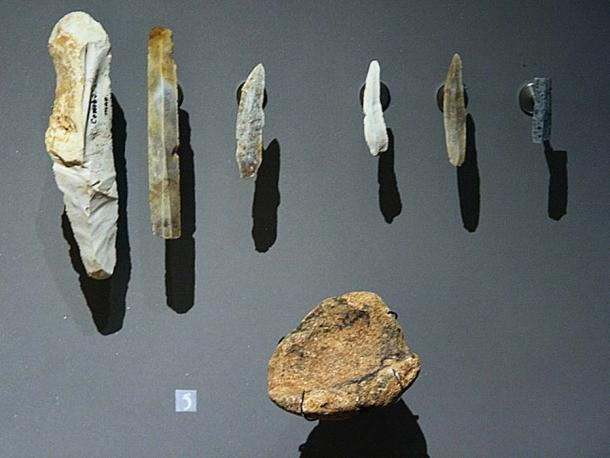 A selection of similar period prehistoric tools for illustration.