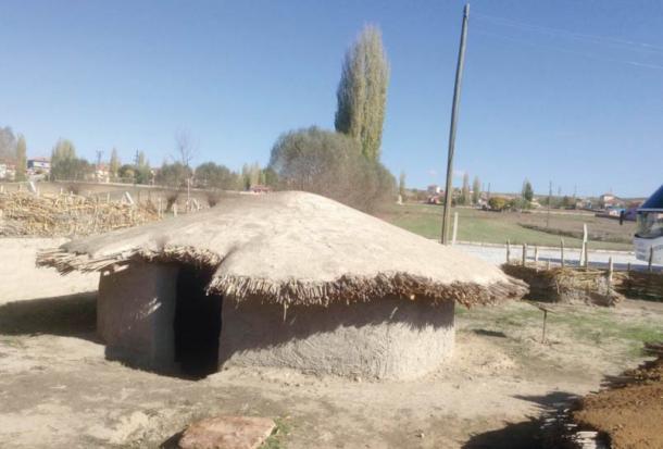 Example of the semi-subterranean oval-shaped huts found at Aşıklı Höyük, Turkey