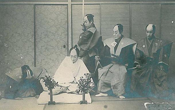 The seppuku ritual, circa 1900.