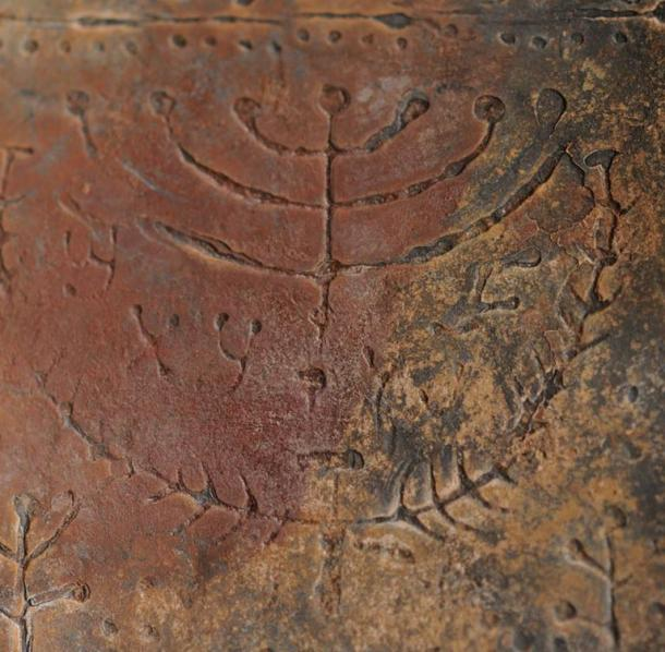 Depiction of the seven-branch menorah in one of the codices.