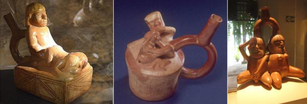 A wide variety of sexual acts are depicted in the Moche pottery.