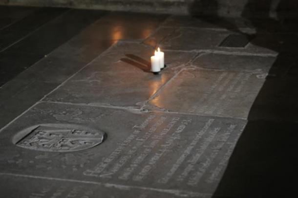 Shakespeare's tomb in Holy Trinity Church.
