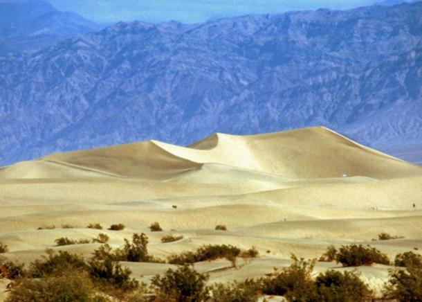 Some of the shape-shifting sand dunes in Death Valley.