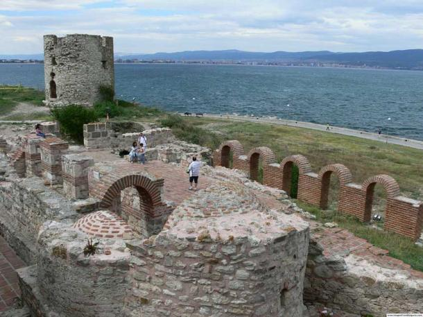 Close to the ship graveyard, the old town of Nessebar on the Bulgarian coast is a dense stack of layered ruins that stretch back more than 3,000 years. (Martyr / CC BY-SA 2.5)