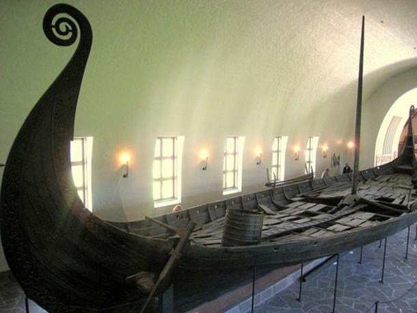Oseberg ship, Kulturhistorisk museum (Viking Ship Museum), Oslo, Norway.