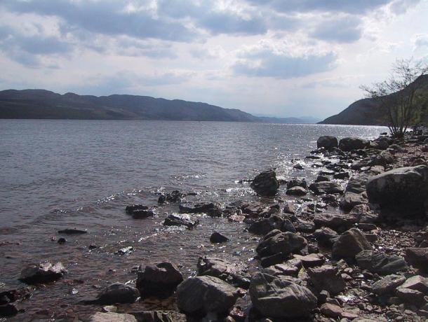 A view from the shores of Loch Ness, looking south