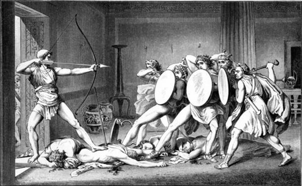 Odysseus showed signs of PTSD upon his return.