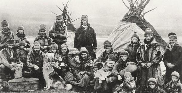 A siida of nomadic Sámi (1900-1920), Norway