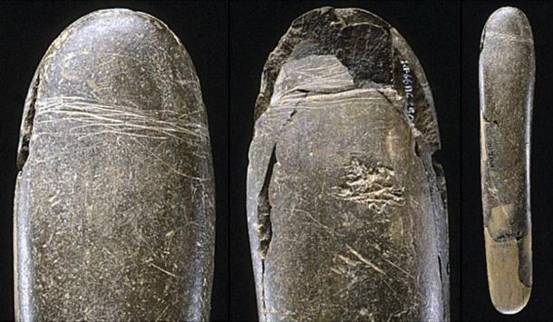 The 28,000-year-old siltstone phallus found in the Hohle Fels Cave.