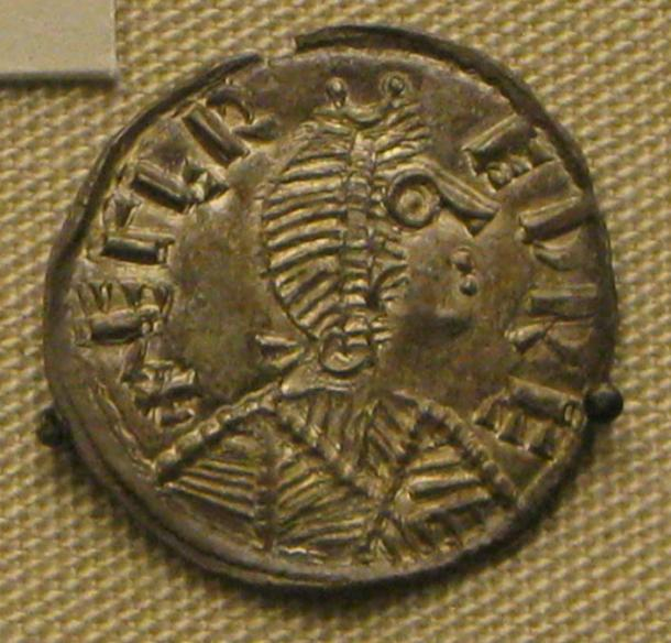 A silver coin depicting Alfred the Great