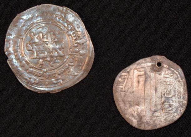 Two silver coins found at the site came from as far away as Afghanistan