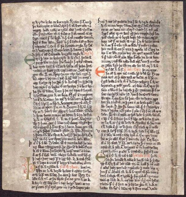 The single surviving page known as the 'Kringla leaf (Kringlublaðið)', kept in the National and University Library of Iceland, is one of the main sources of the history of Harald Faihair. (Soerfm / Public Domain)
