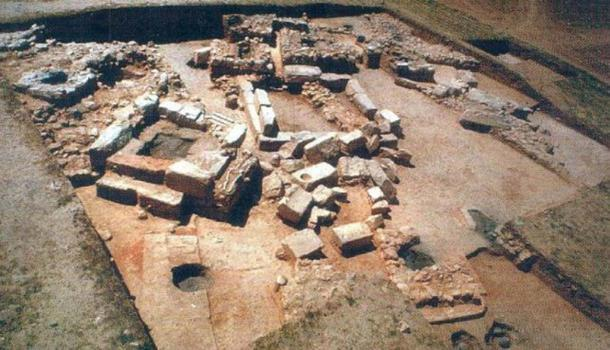 View of the site during excavations.