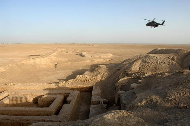 The Uruk archaeological site in Mesopotamia; as in Egypt, the Mesopotamians built their monuments in stone and paid their workers in beer.