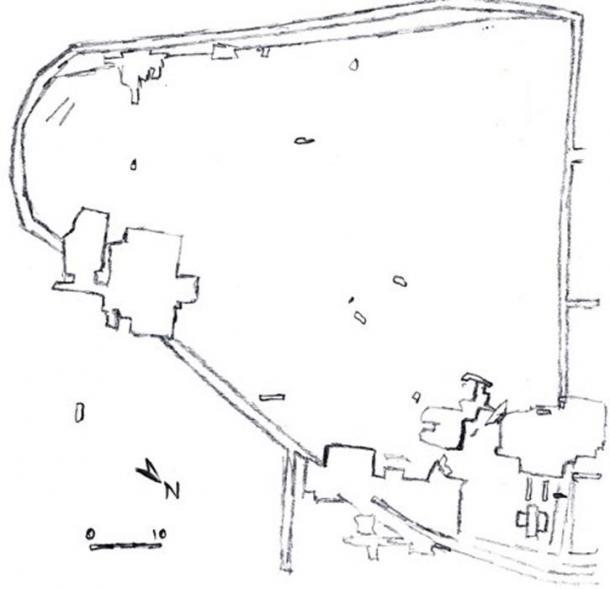 Sitemap of Dolní Věstonice.