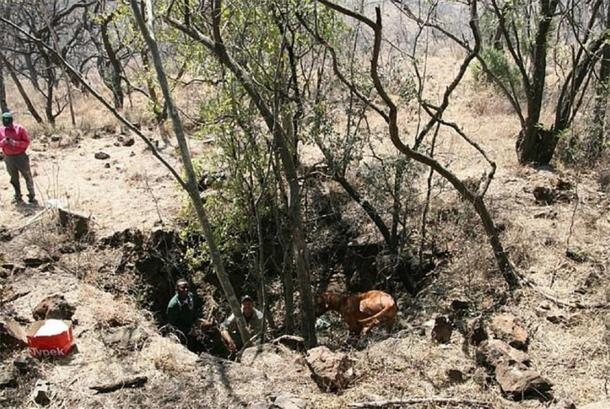The site where the A. sediba remains were found, in Mamapa, South Africa. (Image: © Dunmore et al. University of Kent)