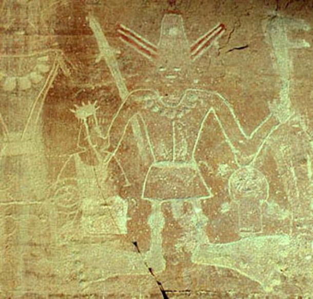 Utah, six fingered and toed Petroglyph. (Source James Q. Jacobs Rock Art Pages)