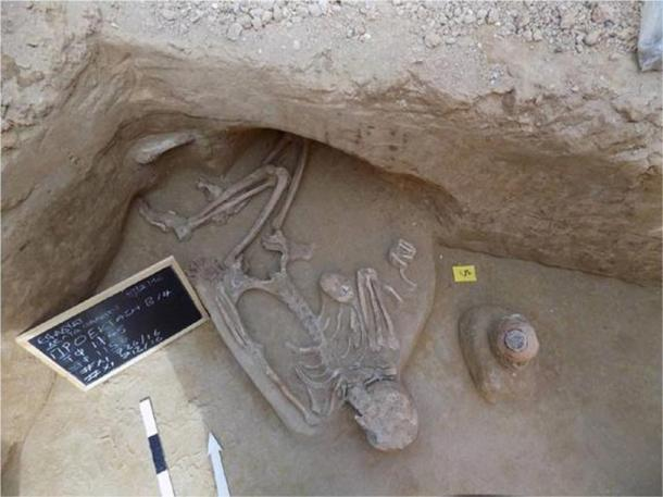 One of the skeletons found in the cemetery.