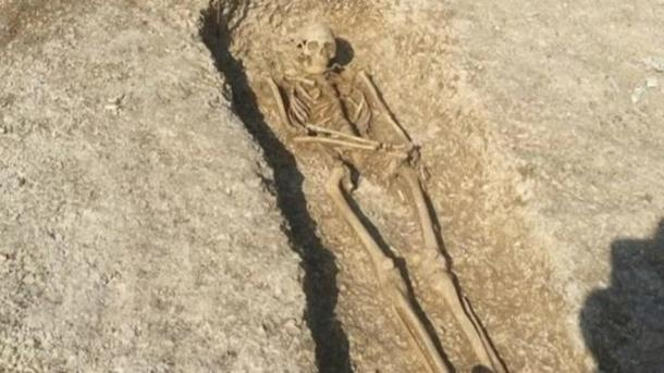 One of the skeletons found at the cemetery.