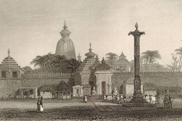 A sketch of the Jagannath temple dating back to 1815.