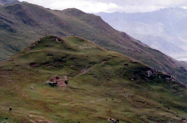 A sky burial site in Yerpa Valley, Tibet