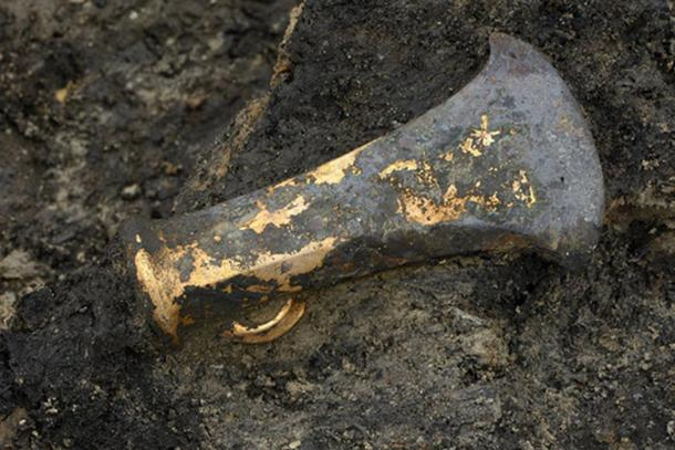 A bronze socketed ax was one of many Bronze Age tools found at Must Farm, a site that dates back about 3,000 years and is the finest site of that era ever found in Britain and one of the finest in Europe.