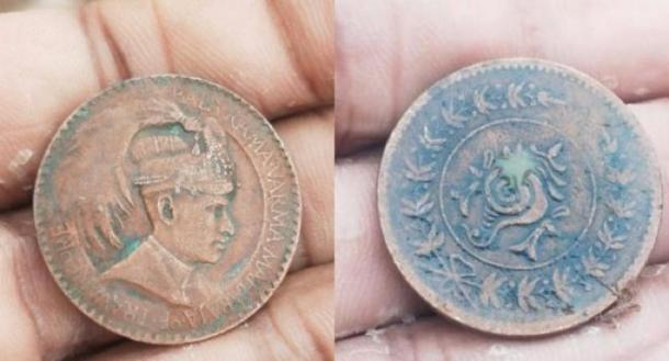 Some coins show the traditional symbol of Travancore, a conch shell, on one side and the image of the last Maharajah on the other side. (The News Minute)