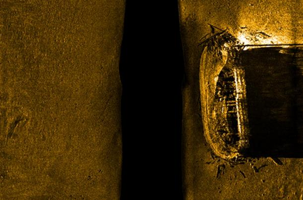 Side-scan sonar images of the first ship found from the Franklin Expedition, HMS Erebus.