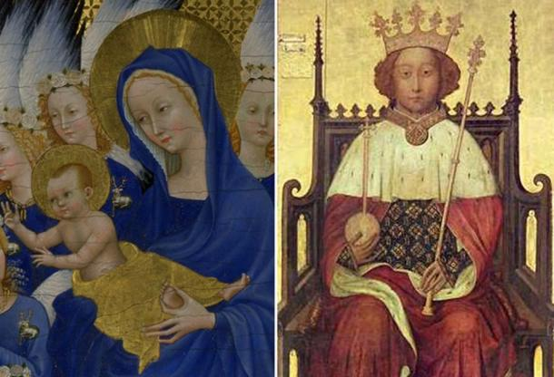 [left] Edward of Angouleme and Joan of Kent [right] Richard of Bordeaux