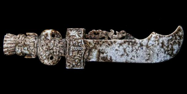 A votive sword found in Georgia, USA. Some researchers say this sword shows evidence of Pre-Columbian Chinese contact in North America.