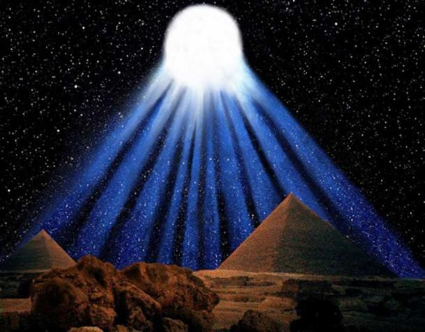 Impression of the spectacular ten-tailed comet recorded by the Ancient Egyptians in 1486 BC.